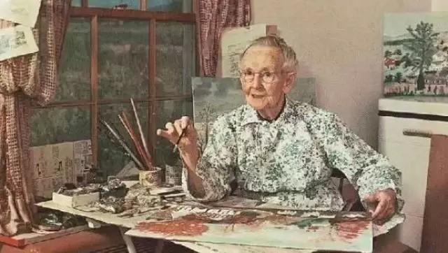 [美文摘抄]摩西奶奶:只要开始,就不算太晚